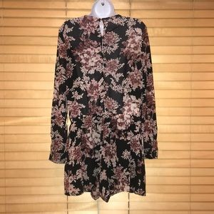 Free People Other - Free People Floral Print Faux Wrap Romper
